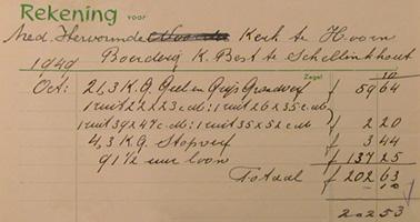 De geschiedenis van schellinkhout periode 1949 for Uurloon behanger